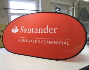 Golf Banners for Santander Bank