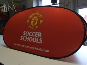 Manchester United Soccer School Golf Banners