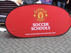 Manchester United Soccer School Pop Up Banners