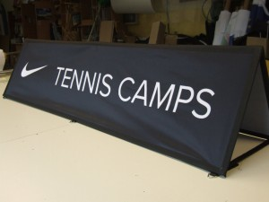 nike tennis camp pop out banner