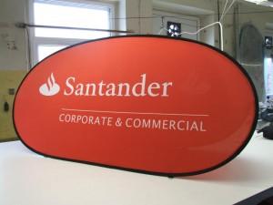 santander golf banner